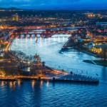 Koblenz: Das deutsche Eck bei Nacht