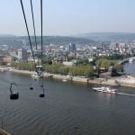 Blick von oben auf die Seilbahn Koblenz