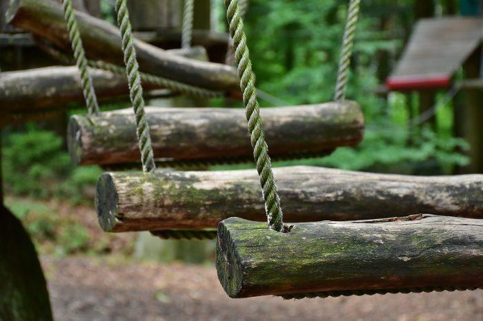 Baumstammbrücke zum Klettern